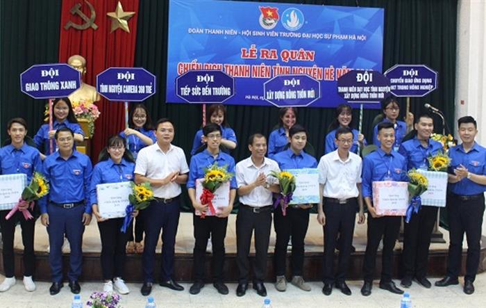 Tuổi trẻ trường Đại học Sư phạm Hà Nội ra quân Chiến dịch Tình nguyện hè