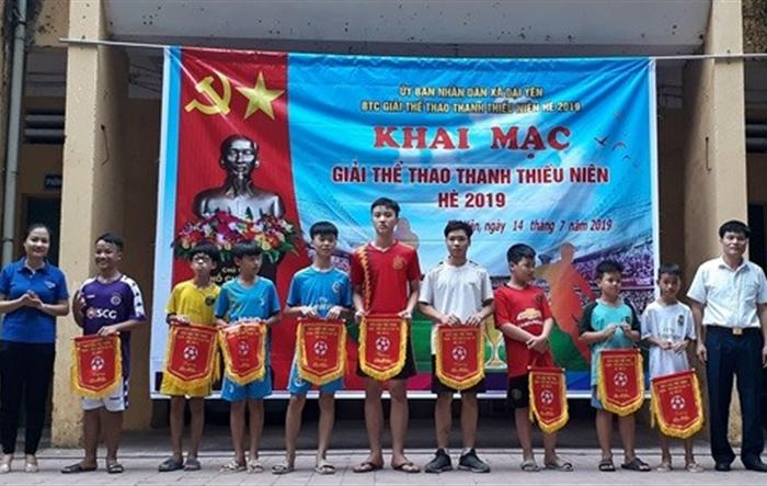 Khai mạc các giải thể thao Thiếu niên tại xã Đại Yên