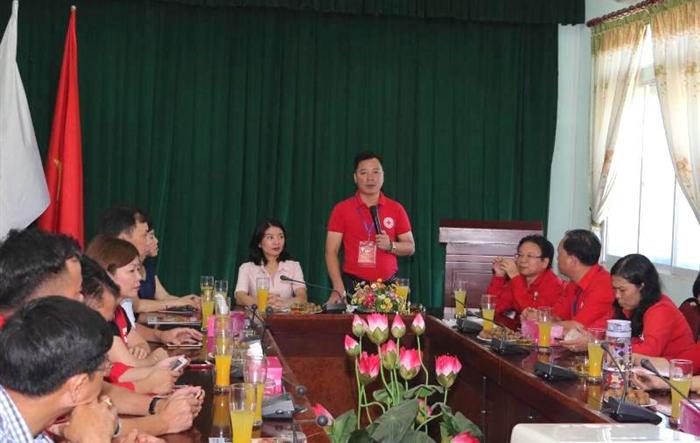 Hội Chữ thập đỏ TP Hà Nội thăm và làm việc tại Thủ đô Viêng Chăn