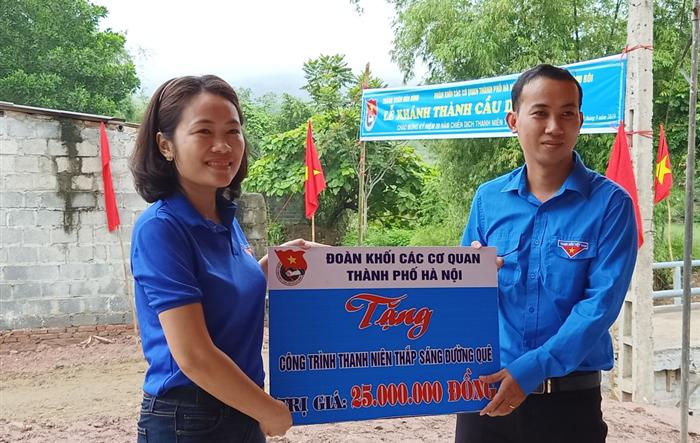 Đoàn Khối các cơ quan TP Hà Nội: Nối liền xóm Mư bị chia cắt bằng cây cầu dân sinh