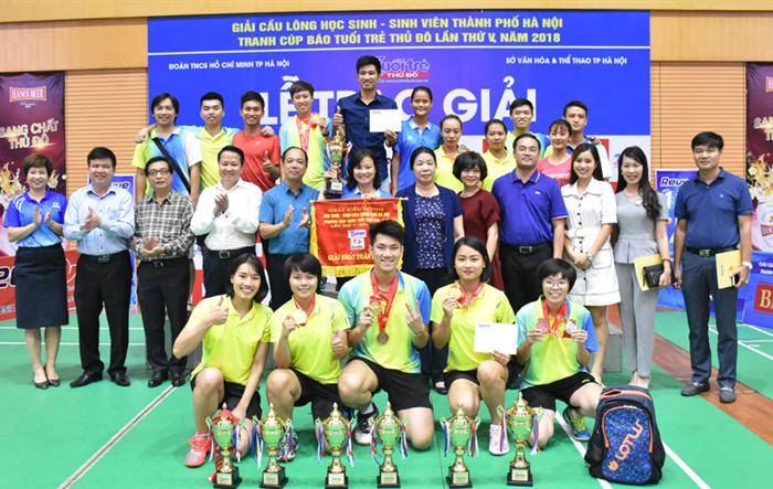 Giải cầu lông học sinh - sinh viên TP Hà Nội mở rộng tranh Cúp báo Tuổi trẻ Thủ đô: Kết nối tinh thần trẻ