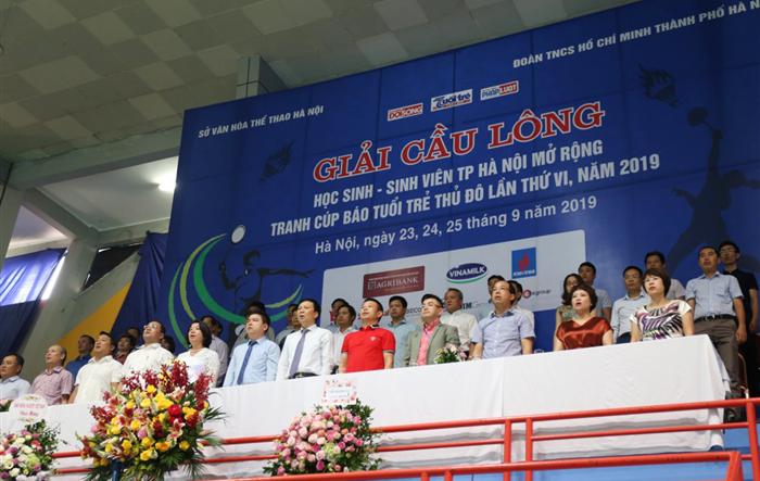 Tưng bừng lễ khai mạc Giải cầu lông HS-SV TP Hà Nội 2019