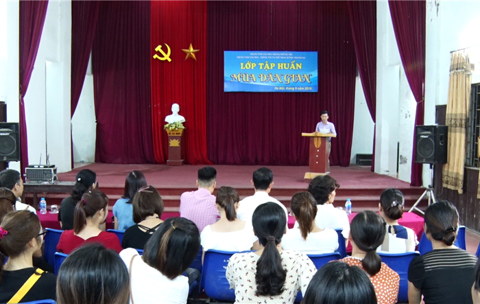 Huyện đoàn Thanh Oai tổ chức lớp tập huấn múa dân gian cho đoàn viên, thanh niên