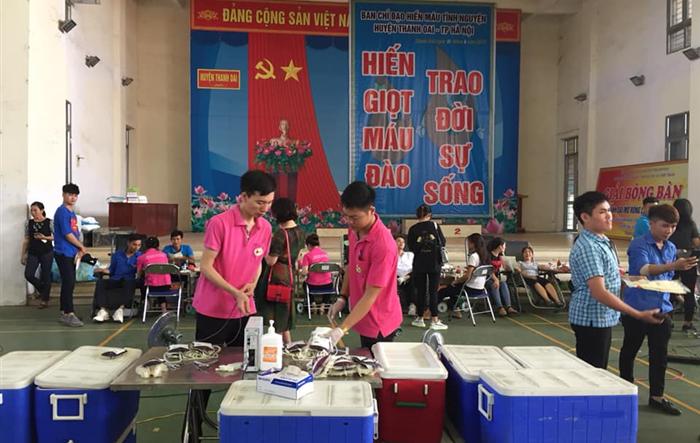 Ngày hội hiến máu tình nguyện đợt 3 năm 2019 của tuổi trẻ Thanh Oai