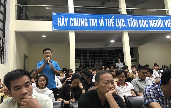 Đối thoại giữa sinh viên Đại học sư phạm TDTT Hà Nội với lãnh đạo nhà trường năm học 2019-2020