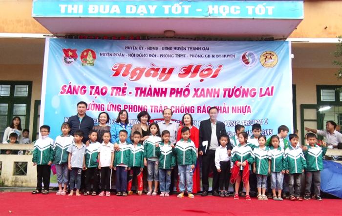 Ngày hội Sáng tạo trẻ - Thành phố xanh tương lai - Hưởng ướng phong trào Chống rác thải nhựa của tuổi trẻ Thanh Oai