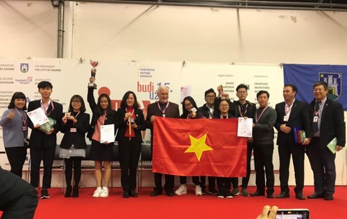 Học sinh Hà Nội giành giải đặc biệt và Huy chương Vàng thi sáng chế quốc tế INOVA