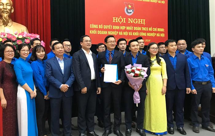 Hội nghị công bố quyết định hợp nhất Đoàn khối Doanh nghiệp Hà Nội và Đoàn khối Công nghiệp Hà Nội