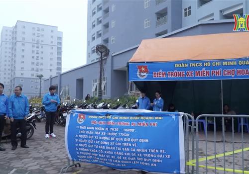 """Tuổi trẻ Thủ đô ra quân đội hình """"Trông xe miễn phí"""" dịp Tết Nguyên đán Canh Tý 2020"""