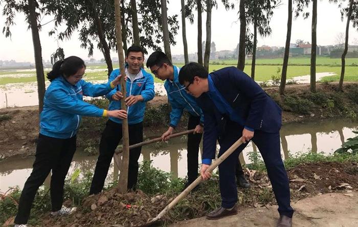 Tuổi trẻ Thanh Trì hưởng ứng Tết trồng cây đời đời nhớ ơn Bác