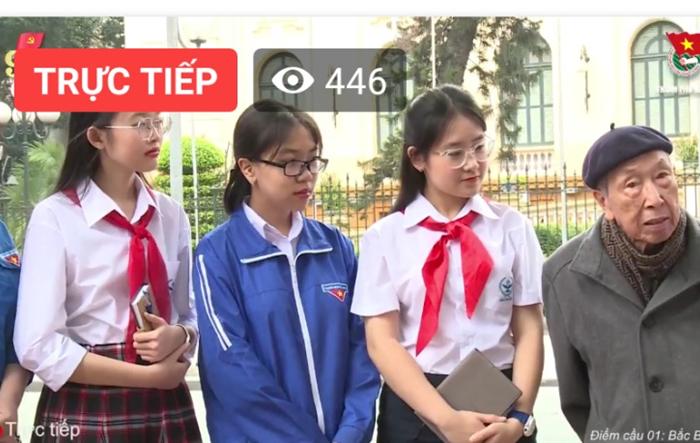 """Thành đoàn Hà Nội: Livestream """"Cầu truyền hình trực tuyến với chủ đề """"Ngày đoàn viên - Theo dấu chân lịch sử"""