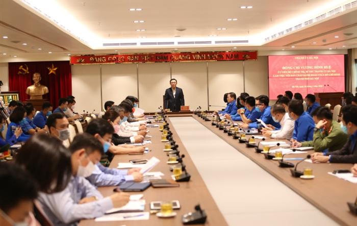 Trực tiếp: Bí thư Thành ủy Vương Đình Huệ làm việc với Ban Chấp hành Thành đoàn Hà Nội