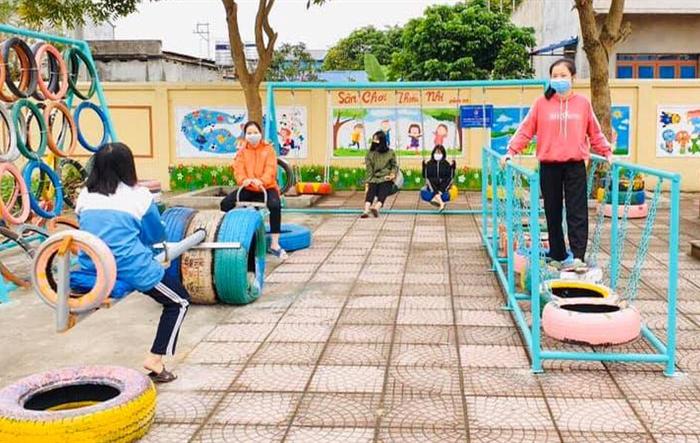 Khánh thành sân chơi tặng thiếu nhi xã Nam Sơn