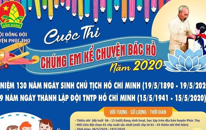 """Thanh thiếu nhi huyện Phúc Thọ thi """"Chúng em kể chuyện Bác Hồ"""""""
