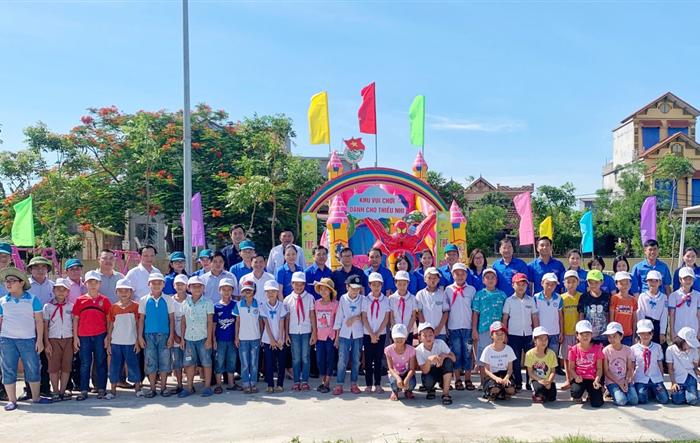 Tuổi trẻ Cụm Đồng bằng sông Hồng tặng sân chơi cho thiếu nhi Thái Bình