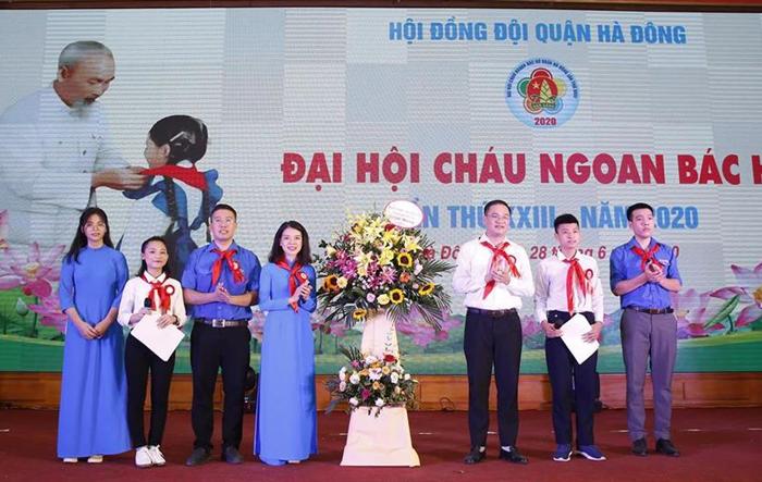 150 đại biểu tham dự Đại hội Cháu ngoan Bác Hồ quận Hà Đông