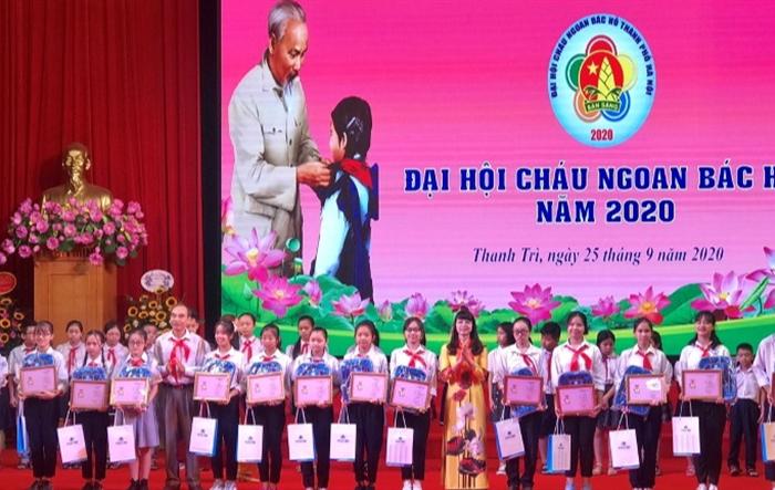 130 đội viên tiêu biểu dự Đại hội Cháu ngoan Bác Hồ huyện Thanh Trì