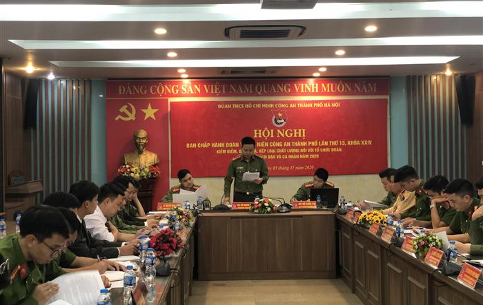 Hội nghị Ban Chấp hành Đoàn Thanh niên Công an thành phố Hà Nội lần thứ 12, khóa XXIV