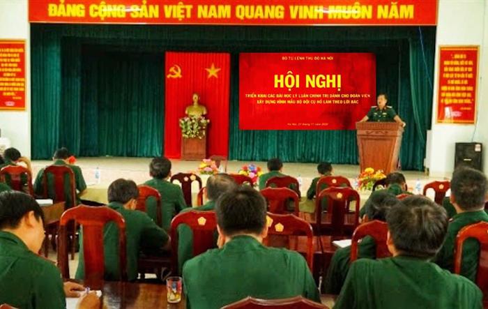 Tuổi trẻ Bộ Tư lệnh Thủ đô Hà Nội gương mẫu học tập các bài học lý luận chính trị dành cho đoàn viên – Xây dựng hình mẫu Bộ đội Cụ Hồ làm theo lời Bác