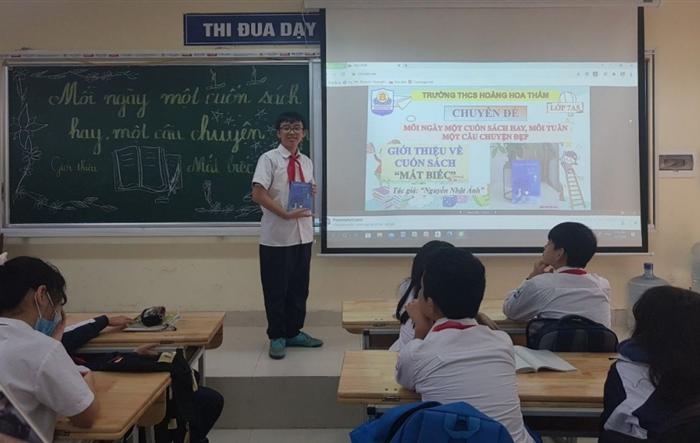 Liên đội THCS Hoàng Hoa Thám nâng cao văn hóa đọc cho đội viên