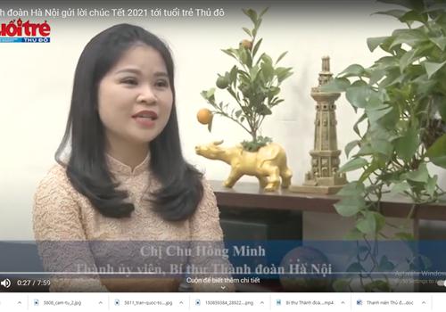 Bí thư Thành đoàn Hà Nội gửi lời chúc Tết 2021 tới tuổi trẻ Thủ đô