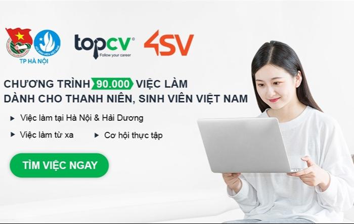 Chiến dịch 90.000 việc làm cho thanh niên, sinh viên 4sv.vn