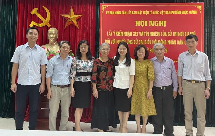 100% cử tri nơi cư trú giới thiệu đồng chí Bí thư Thành đoàn Hà Nội Chu Hồng Minh ứng cử đại biểu Hội đồng Nhân dân Thành phố nhiệm kỳ 2021 - 2026