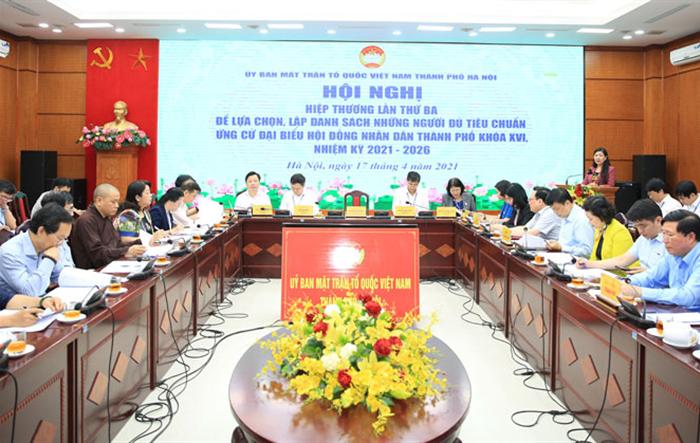 Thống nhất danh sách 160 người đủ tiêu chuẩn ứng cử đại biểu HĐND thành phố Hà Nội khóa XVI