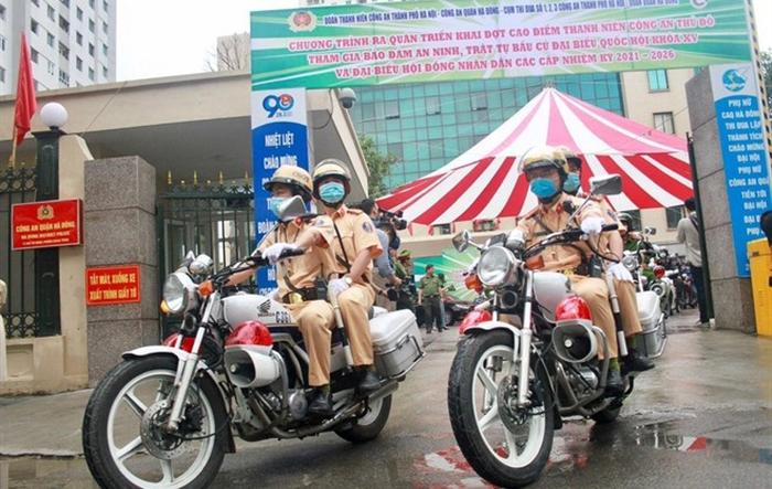 Tuổi trẻ CATP ra quân bảo đảm an ninh, trật tự phục vụ bầu cử