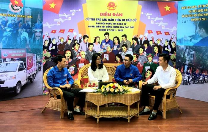 Cử tri trẻ quận Hoàng Mai gửi trọn niềm tin, trách nhiệm vào lá phiếu
