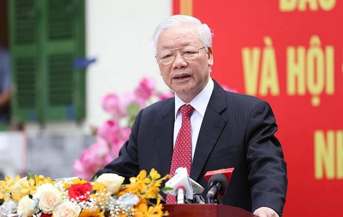 Tổng Bí thư Nguyễn Phú Trọng: Đây là cuộc bầu cử có quy mô lớn nhất từ trước đến nay