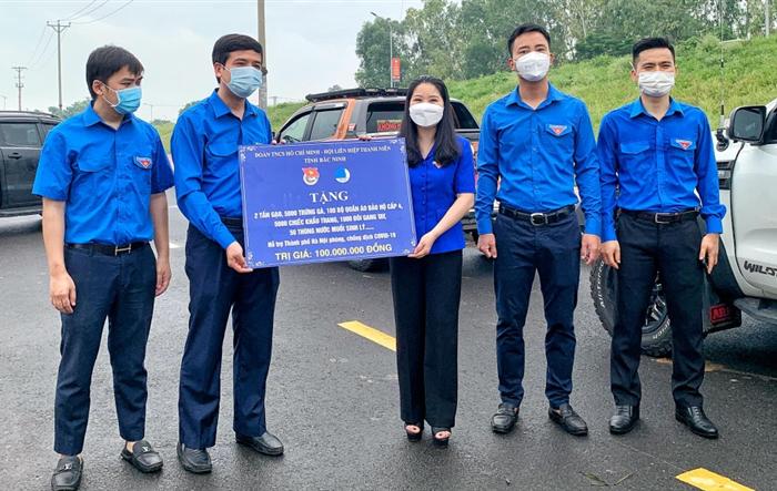 Tỉnh đoàn Bắc Ninh trao tặng vật tư y tế, nhu yếu phẩm tới tuổi trẻ và Nhân dân Thủ đô